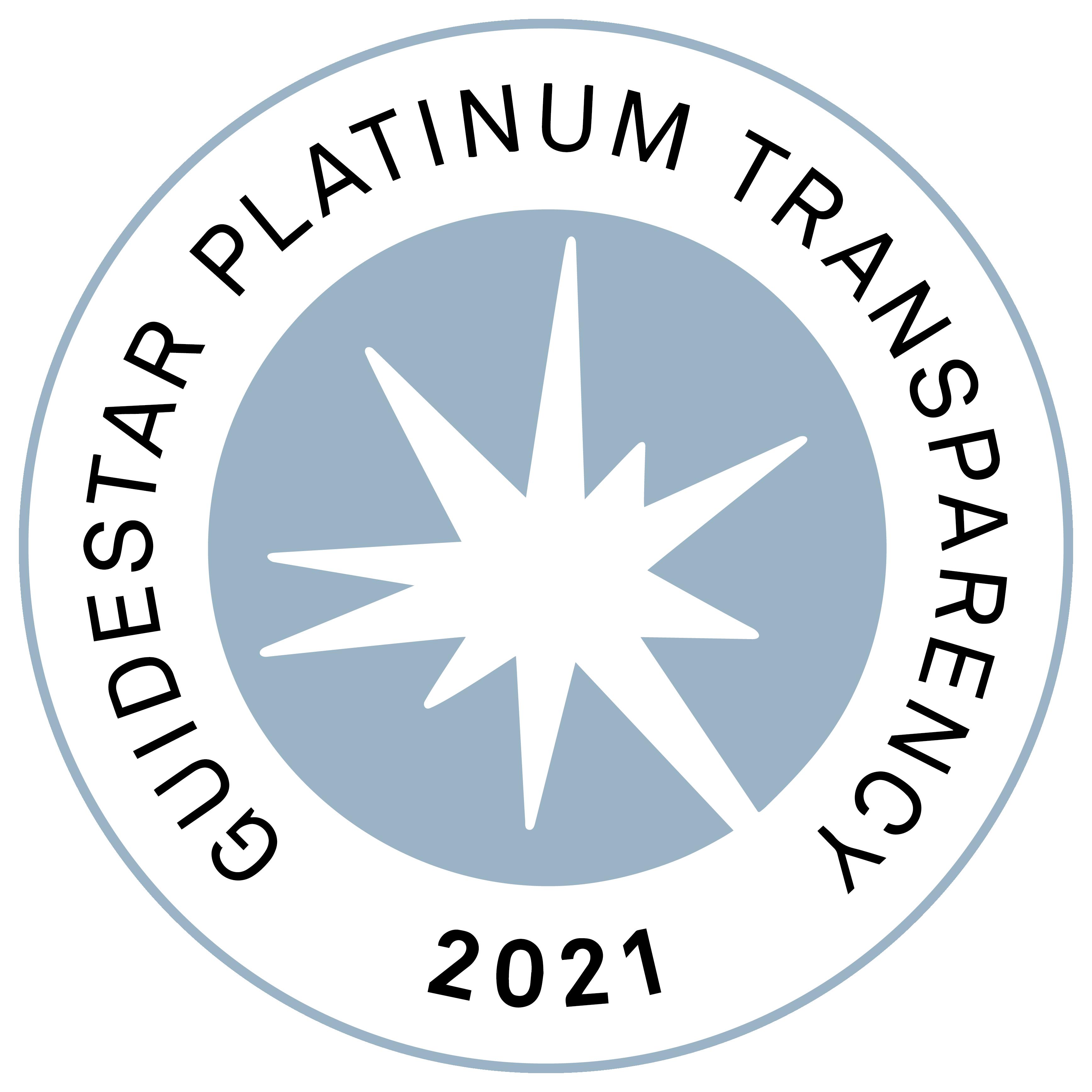 Guidestart Platinum Transparency 2021 Seal
