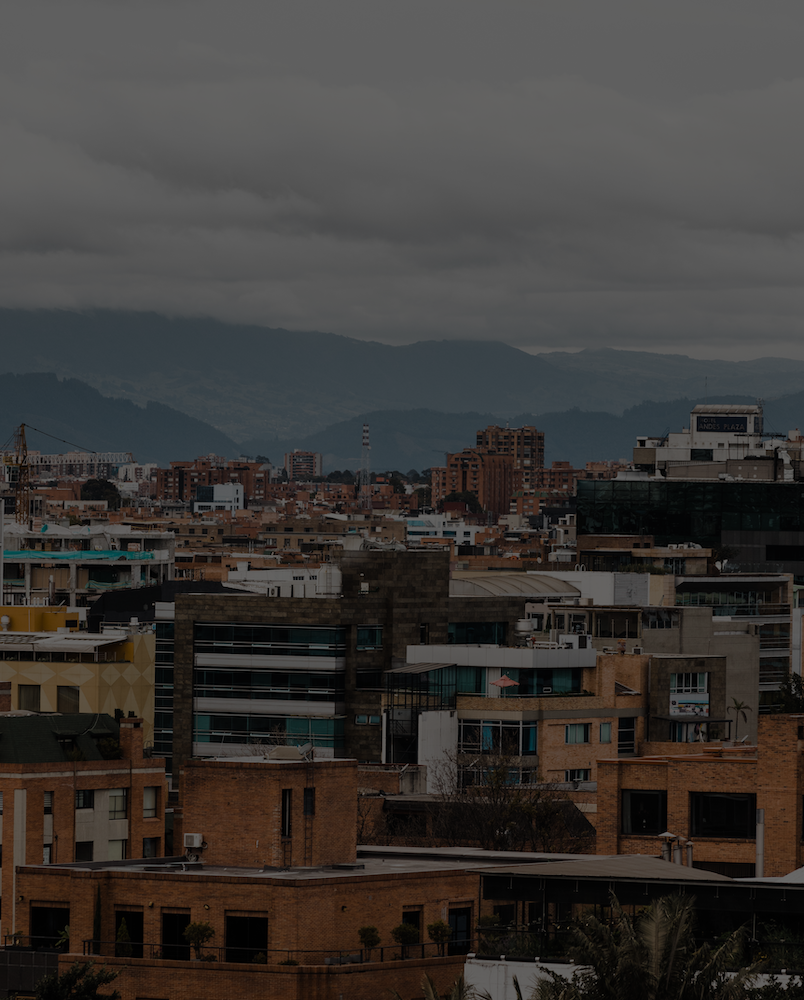 Landscape photo of Latin American cityscape.
