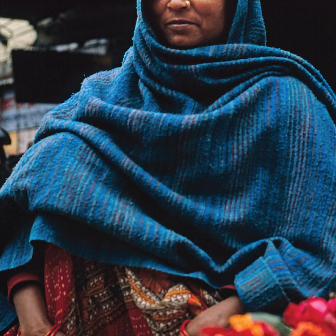 Adult female survivor of human trafficking (representative) in India.