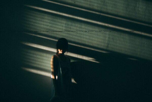 girl behind shadows